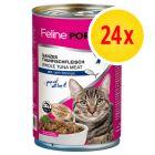 Lot 4 saveurs Feline Porta 21 24 x 400 g