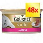 Lot 4 saveurs Gourmet Gold Les Mousselines 48 x 85 g