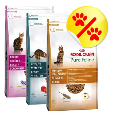 Lot 3 saveurs Royal Canin Pure Feline 3 x 1,5 kg