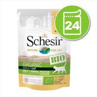 Lot Schesir Bio 24 x 85 g pour chat