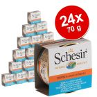 Lot Schesir Natural en sauce 24 x 70 g pour chat