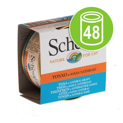 Lot Schesir Natural en sauce 48 x 70 g pour chat