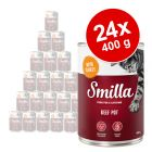 Lot Smilla bœuf 24 x 400 g pour chat