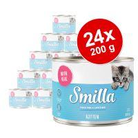 Lot Smilla Kitten 24 x 200 g pour chaton