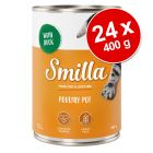Lot Smilla volaille et poisson 24 x 400 g