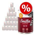 Lot Smilla 24 x 400 / 800 g pour chat à prix spécial !