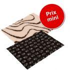 Lot : tapis Vetbed® Isobed SL, crème/brun + tapis Vetbed® Isobed SL, noir pattes grises pour chien