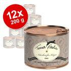 Lot Terra Faelis, viande 12 x 200 g pour chat