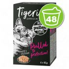 Lot Tigeria Pulled Meat 48 x 85 g pour chat