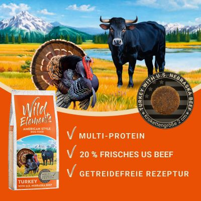 Lot Wild Elements 2 x 12 kg pour chien