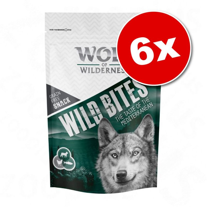 Lot Wolf of Wilderness Bouchées 6 x 180 g pour chien