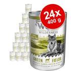 Lot Wolf of Wilderness Senior 24 x 400 g pour chien