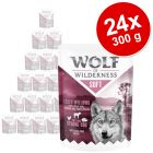 Lot Wolf of Wilderness Soft & Strong 24 x 300 g pour chien