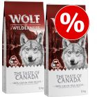 """Lot Wolf of Wilderness """"The Taste Of"""" 2 x 12 kg pour chien"""