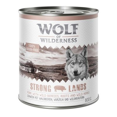 Lot Wolf of Wilderness 24 x 800 g  pour chien