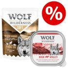 Lot 24 x 300 g ! Wolf of Wilderness Adult pour chien 7,2 kg