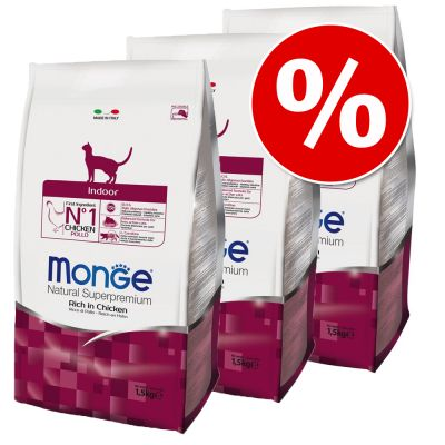 Lot 3 x 1,5 kg Monge Natural Superpremium Cat