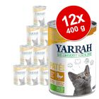 Lot Yarrah Bio 12 x 400 g pour chat