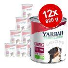 Lot Yarrah Bio 12 x 820 g pour chien