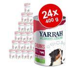 Lot Yarrah Bio 24 x 400/405g pour chien