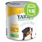 Lot Yarrah Chunks Bio 18 x 820 g pour chien