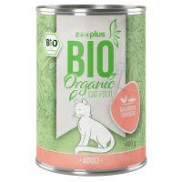 Lot zooplus Bio saumon, poulet 12 x 85 g/ 400 g