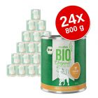 Lot zooplus Bio 24 x 800 g pour chien