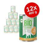 Lot zooplus bio 12 x 400 g pour chien