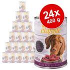 Lot zooplus Classic 24 x 400 g pour chien