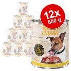 Lot zooplus Classic 12 x 800 g pour chien