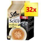 Lots économiques Sheba Classic Soup 32 x 40 g
