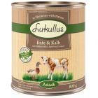 Lukullus And og kalv med søtpotet, eple og linolje