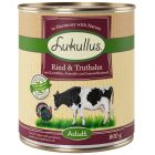Lukullus Grain-Free Βοδινό & Γαλοπούλα Κονσέρβα