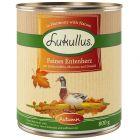 Lukullus menú de otoño con corazón de pato