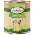 Lukullus menu de primavera: tenros corações de vitela