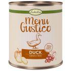 Lukullus Menu Gustico canard, carottes, airelles rouges, romarin