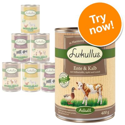 Lukullus Mixed Trial Pack Grain-Free 6 x 400g / 800g
