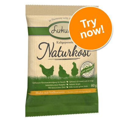 Lukullus Naturkost Chicken & Wholegrain Rice Trial Pack 3 x 80g