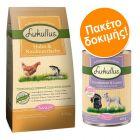 Lukullus Puppy Pack, 1,5 kg Ξηρά Τροφή + 6 x 400 g Υγρή Τροφή