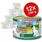 MAC's Mono Sensitive 12 x 200 g en latas para gatos - Pack Ahorro