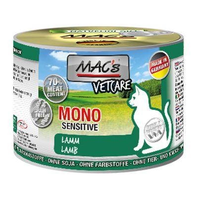 MAC´s Cat Mono Sensitive karma dla kota, 6 x 200 g