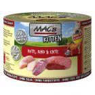 MAC's Kitten dinde, bœuf, canard pour chaton