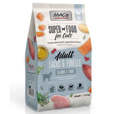 MAC's Superfood for Cats Adult lazac & pisztráng