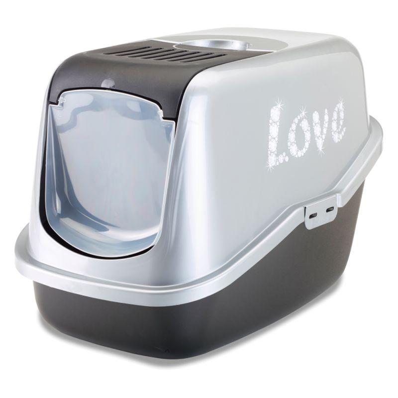 Maison de toilette Savic Nestor Impression Love pour chat