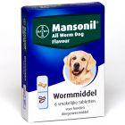 Mansonil All Worm Dog Flavour Tabletten - Vanaf 2,5 kg