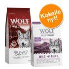 2 maun yhteispakkaus! 2 x 1 kg Wolf of Wilderness Adult -kuivaruokaa