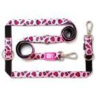 Max & Molly Multifunktionsleine Leopard Pink