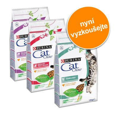 Míchané balení Purina Cat Chow Special Care - 3 x 1,5 kg