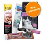 Míchané balení: vitamínové a maltózové pasty pro kočky