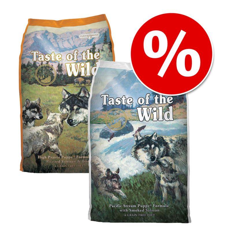 Mešan paket  2 x 13 kg Taste of the Wild Puppy
